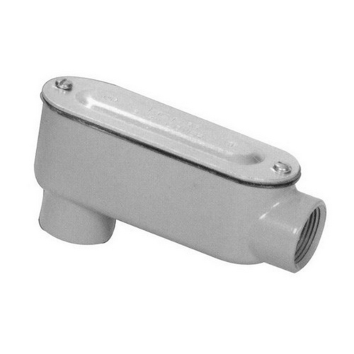 Morris 14052 Aluminum Rigid Conduit Bodies LB Type - Threaded with Cover & Gasket 1