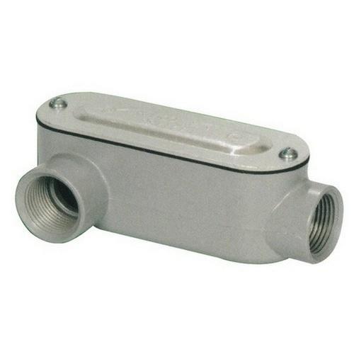 Morris 14095 Aluminum Rigid Conduit Bodies LR Type - Threaded with Cover & Gasket 2