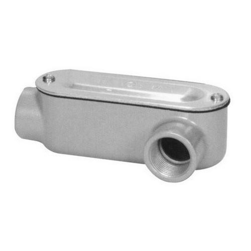 Morris 14115 Aluminum Rigid Conduit Bodies LL Type - Threaded with Cover & Gasket 2
