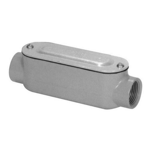 Morris 14130 Aluminum Rigid Conduit Bodies C Type - Threaded with Cover & Gasket 1/2