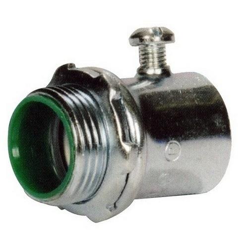 Morris 14891 EMT Set Screw Connectors - Steel - Insulated Throat 3/4