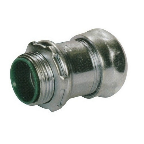 Morris 14950 Steel EMT Compression Connectors with Insulated Throat 1/2