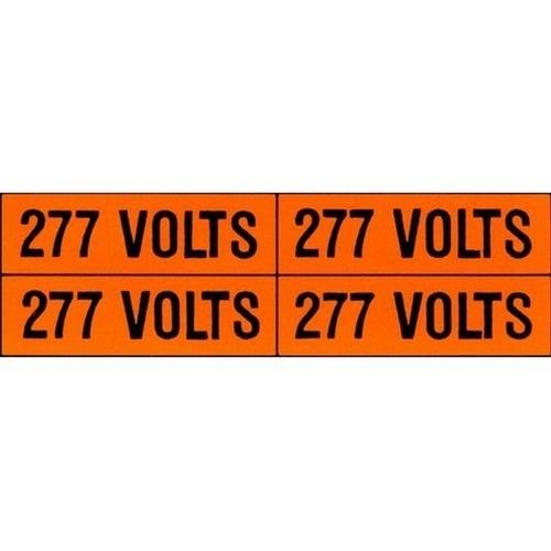 Morris 21320 Voltage Markers (4) 120/208V (5 Pack)