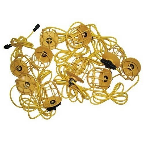 Morris 71190 Temporary String Lighting with Plastic Lamp Guards 14/3 50ft