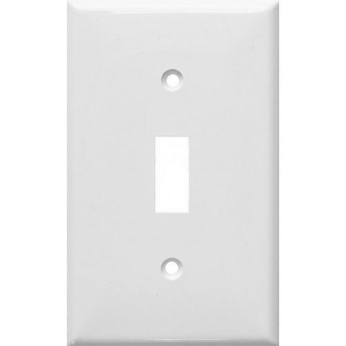 Morris 81011 Lexan Wall Plates 1 Gang Toggle Switch White