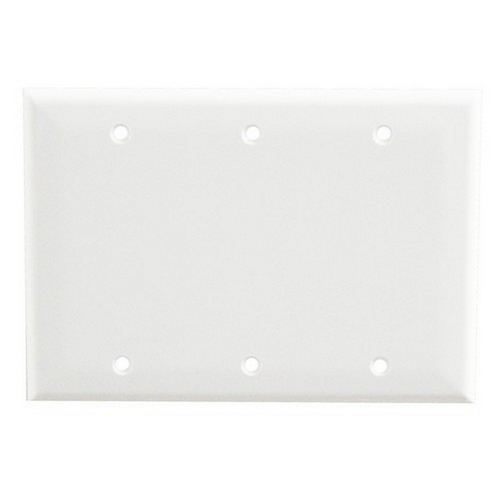 Morris 81531 Lexan Wall Plates 3 Gang Blank White