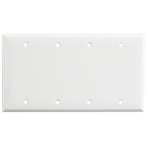 Morris 81541 Lexan Wall Plates 4 Gang Blank White