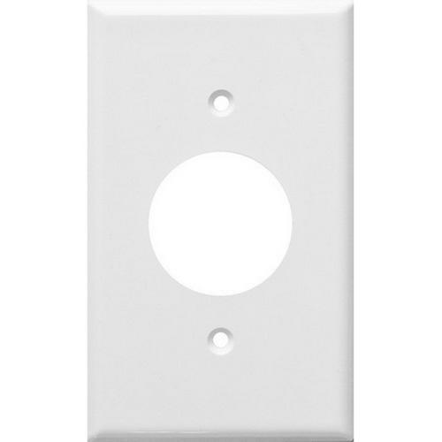 Morris 81611 Lexan Wall Plates 1 Gang Single Receptacle 1.406 White