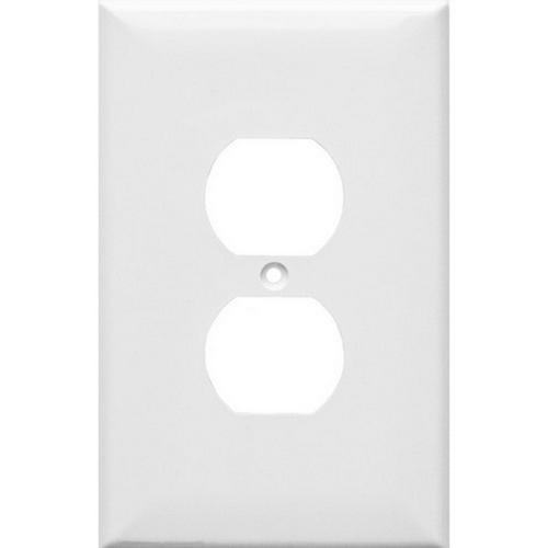 Morris 81831 Lexan Wall Plates 1 Gang Oversize Duplex Receptacle White