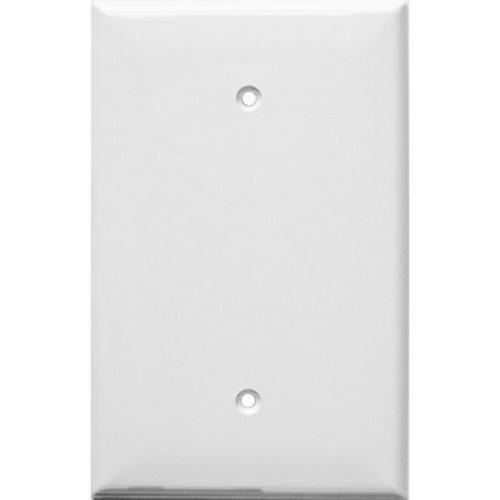 Morris 81841 Lexan Wall Plates 1 Gang Oversize Blank White