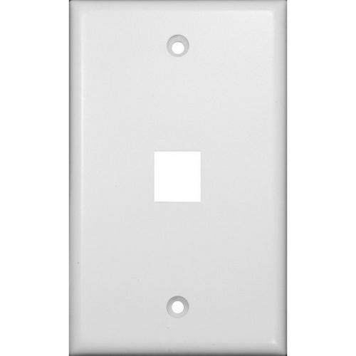 Morris 88162 Datacomm Wallplate For Keystone Jacks & Modular Inserts One Port White