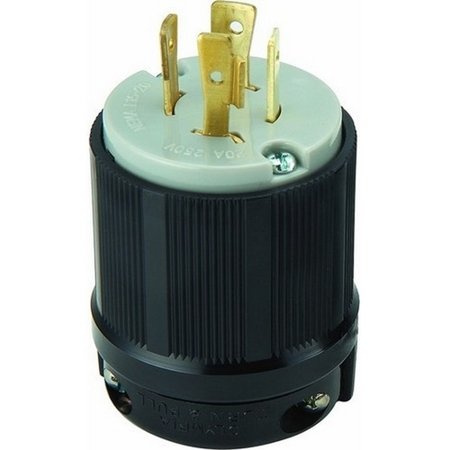 Morris 89755 Twist Lock Male Plugs 3 Pole 4 Wire 20A 250VAC