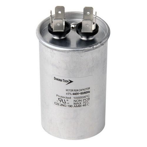 Morris T45100R Motor Run Capacitors Single Capacitance Round Can - 440 VAC 10 uf